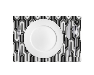 Placemats-Black and White Y Connect