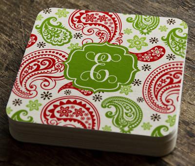 Paper Coaster- Holiday Paisley