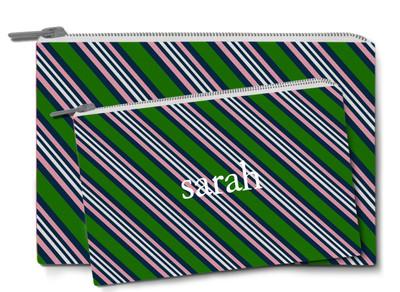 Accessory Zip Pouch- American Tie Green