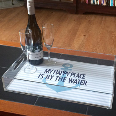 Acrylic Tray- Happy Place Water