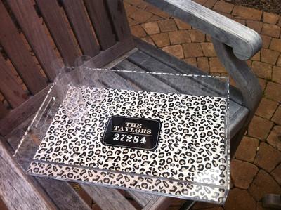 Acrylic Tray-Leopard Zip Code