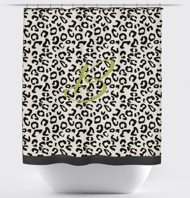 Shower Curtain- Ivory and Black Leopard