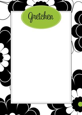 Fat Pad-Black Lime Floral
