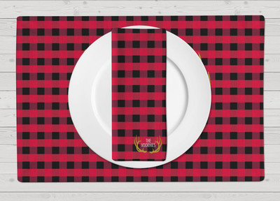 Placemats-Buffalo Plaid Red