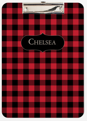 Clipboard-Buffalo Plaid Red