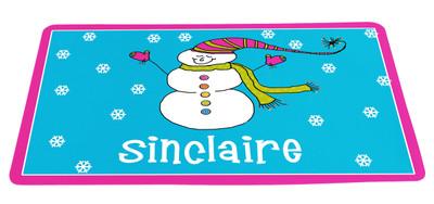 Placemat- Snowman