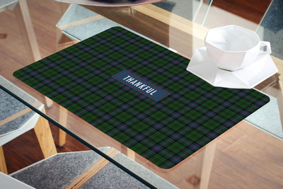 Placemat- Thankful Green plaid