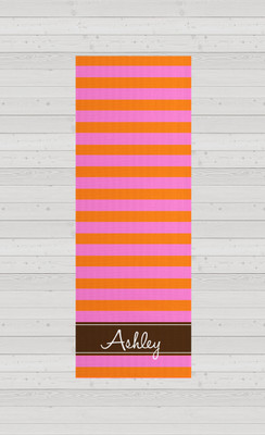 Yoga Mats - Pink and Orange Rugby