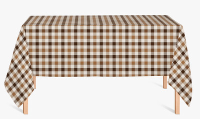 CUSTOM COTTON TABLE CLOTH- Camel Plaid