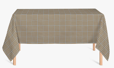 CUSTOM COTTON TABLE CLOTH- Silver and Gold Whimsy Stripe