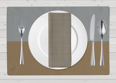 Placemats-Silver and Gold Matte Set