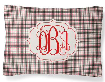 PILLOWCASE-WInter Khaki Plaid