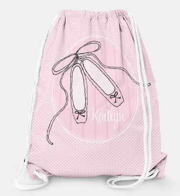 Drawstring Backpack-Ballet Dancer