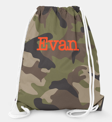 Drawstring Backpack-Camo