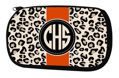 Cosmetic Bag-Leopard Stripe