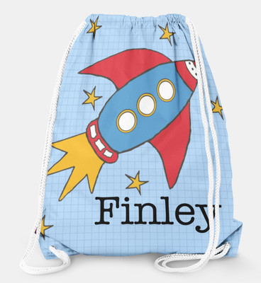 Drawstring Backpack- Rocket