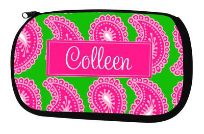 Cosmetic Bag-Pink Paisley