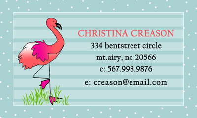 Calling Cards- Flamingo
