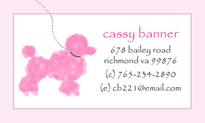 Calling Cards-Poodle