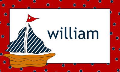 Calling Cards- Sailboat