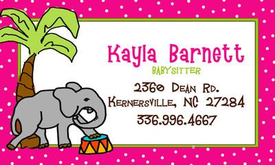 Calling Cards- Elephant