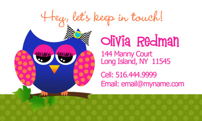 Calling Cards- Allie the Owl