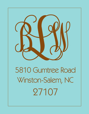 Address Stickers -Turquoise and Coco