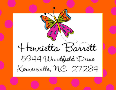Address Stickers - Butterfly