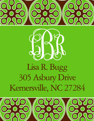 Address Stickers - Prep Brown and Pea Label