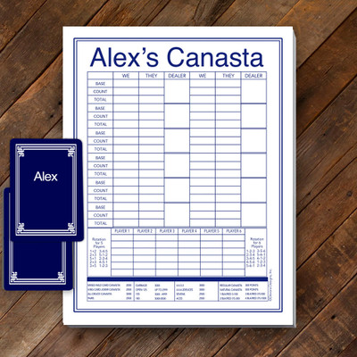 Canasta Pad Gift Set- Alex-Navy