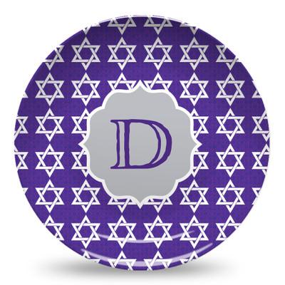 Microwave Safe Dinnerware Plate - Star of David Damask