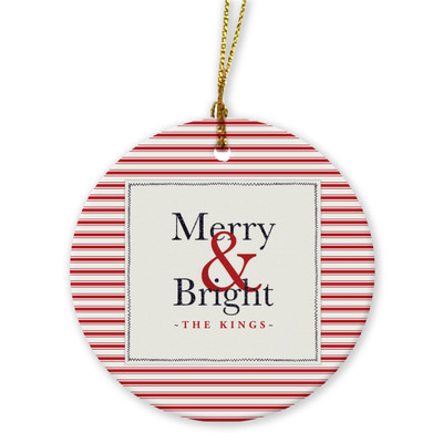 Ornaments - Merry & Bright Red