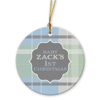 Ornaments - Baby's First Christmas - Blue
