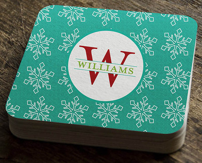 Paper Coaster - Snowflake Damask Pattern