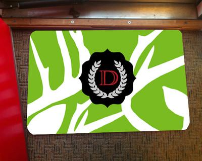 Doormat - Abstract Deer Green