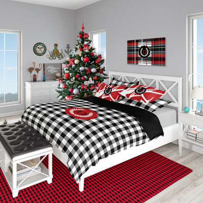Holiday Bedding - Buffalo Plaid & Abstract Deer