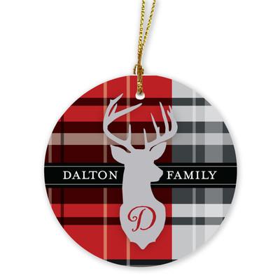 Ornaments - Deer Plaid large