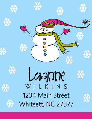Address Stickers - Snowman