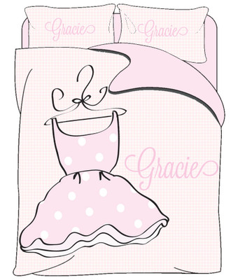 Custom Bedding - Ballet