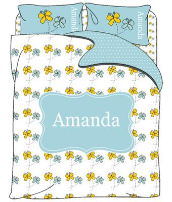Custom Bedding - Butterflies