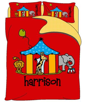 Custom Bedding - Circus