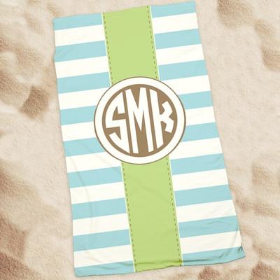 Beach Towel-Sea Stripes