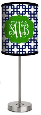 Custom Lamp-Navy Bamboo Prep