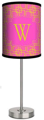 Custom Lamp-Pink Squares