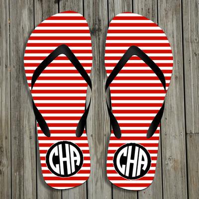 Flip Flops-Red Stripes