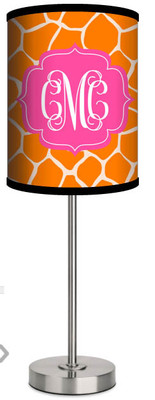 Custom Lamp-Orange Leopard