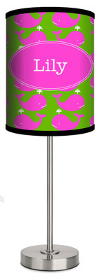 Custom Lamp-Pink Whales