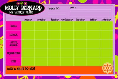Weekly Jumbo Planner Pad-Groovy