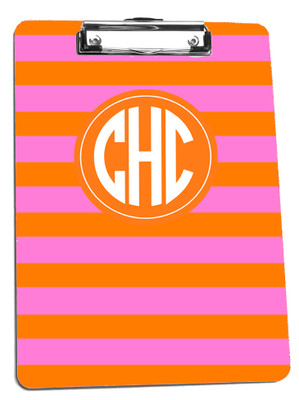 Clipboard-Orange Hot Pink Rugby