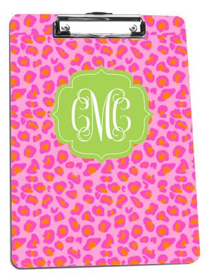 Clipboard-Pink Leopard